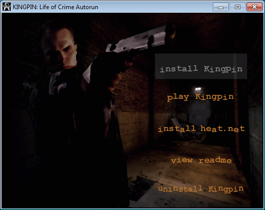 Installing the Game - Kingpin: Life of Crime